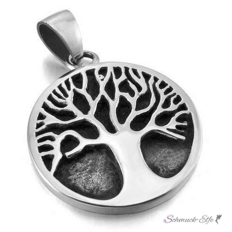 Kette lebensbaum mit gravur