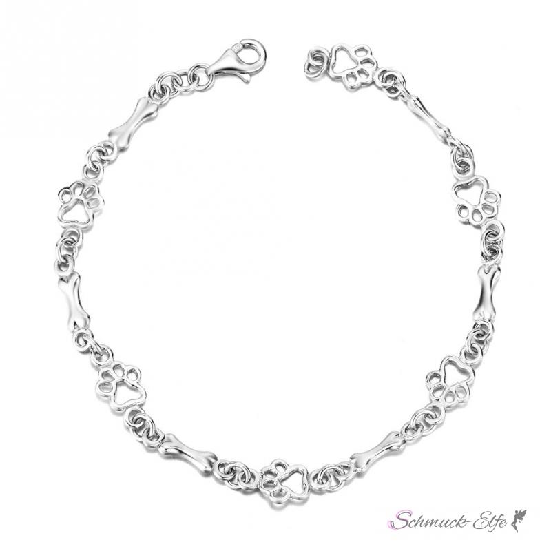 Silber armband  Armband Pfote & Knochen aus 925 Silber im Etui, 99,99 €