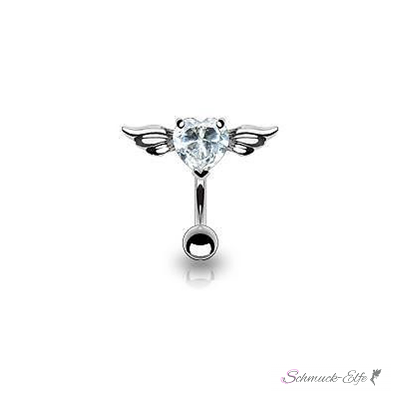 Bauchnabel Piercing Top Down Belly Bar Engelshe...