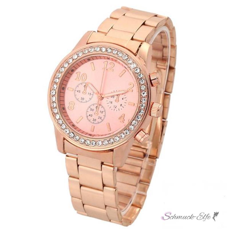 Damen armbanduhren rosegold