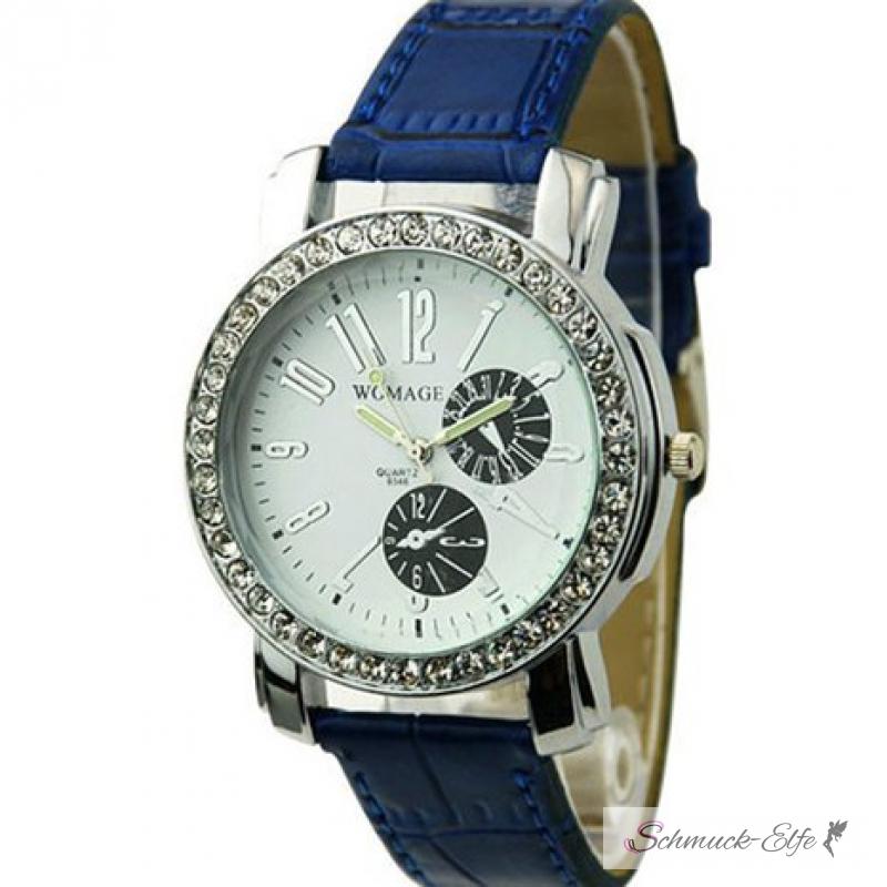 Damen armbanduhren blau
