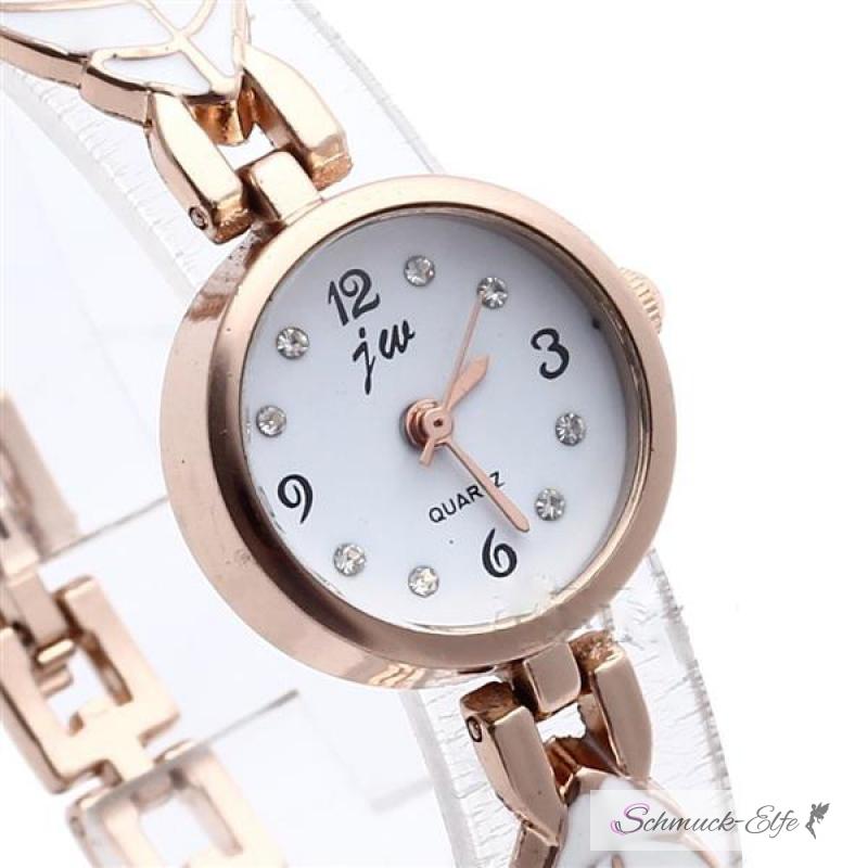 damen edelstahl armbanduhr rosegold bl tterzauber 49 99 euro. Black Bedroom Furniture Sets. Home Design Ideas