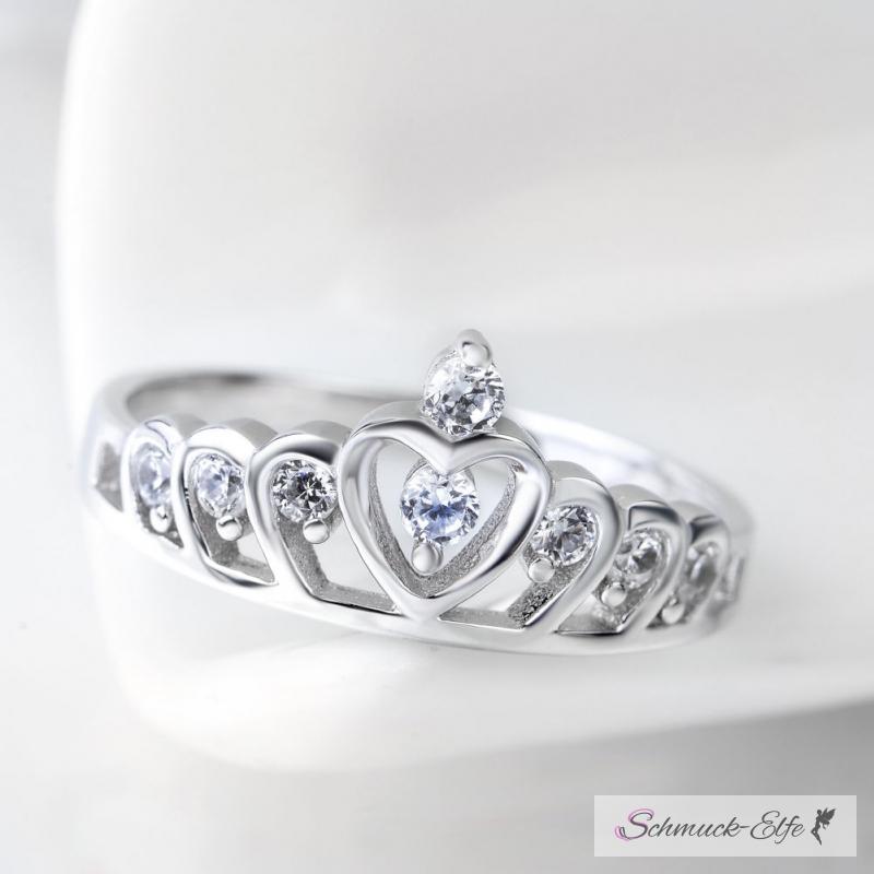 Silber ring  Herz Silberring