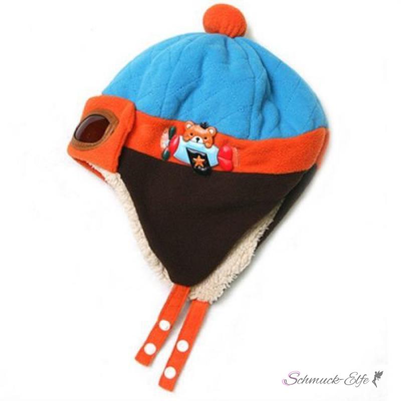 Startseite » Sale% » Kinder Piloten Mütze mit Teddy blau & orange