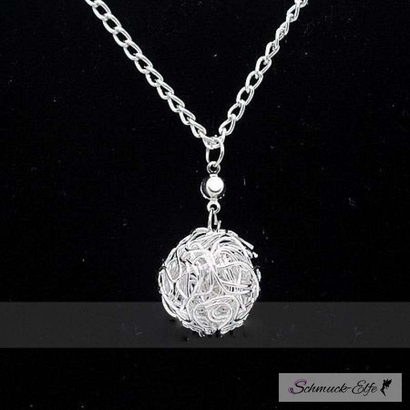 Kette silber  Pullover Kette Silber Ball im Organza Beutel, 14,99 €