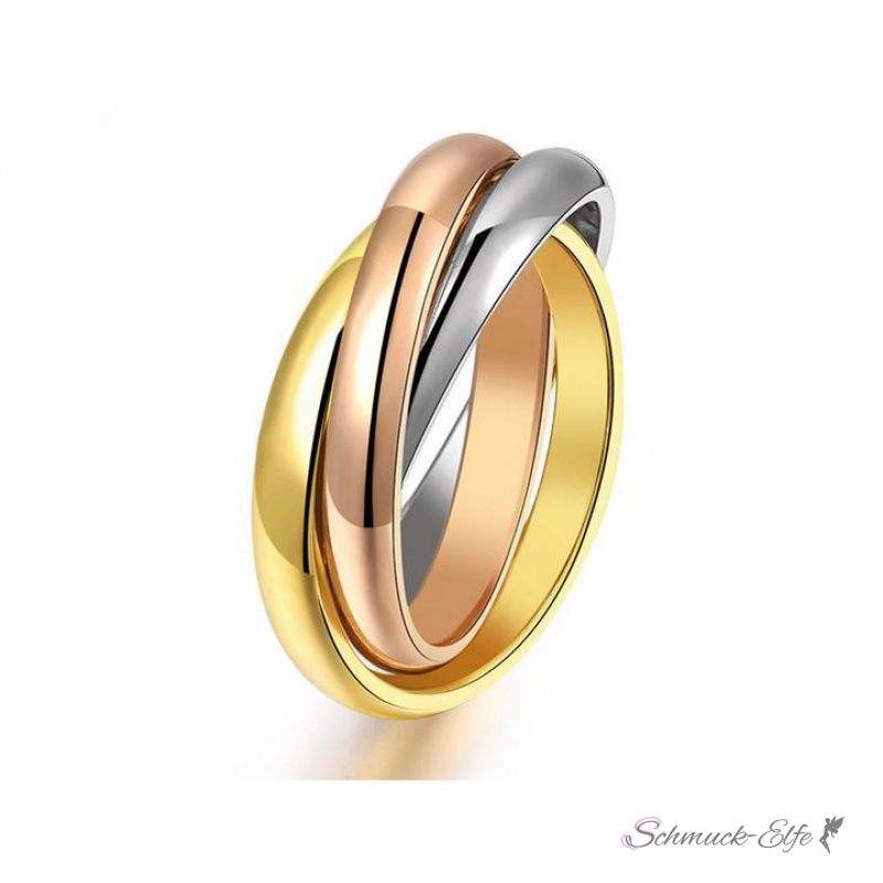 Permalink to Three Gold Russian Wedding Ring