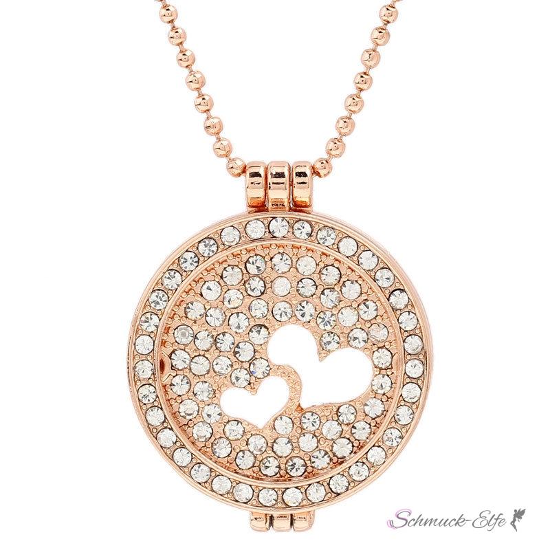 mega creative jewelry damen kette lebensbaum 925 silber rosegold halskette mit kristallen von. Black Bedroom Furniture Sets. Home Design Ideas