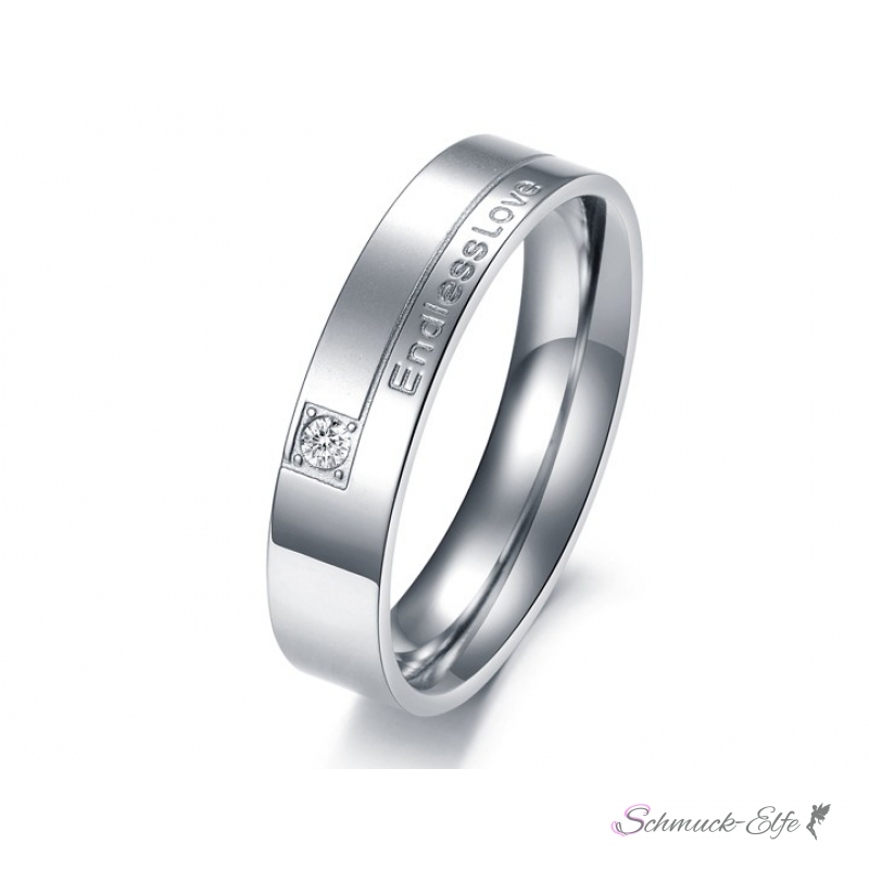 Partnerringe herz  SET Eheringe / Partner Ringe 316 L Edelstahl Endless Love im Etui ver