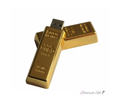 2.0 USB-STICK 16GB Goldbarren Flash Drive Gravur Option