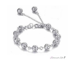 Armband Bubbles 925 Silber im Organza Beutel EDEL