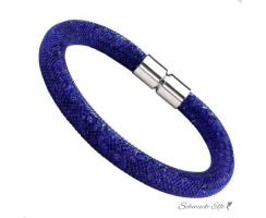 Armband Flying Diamond BLUE Glam  mit Magnetverschluss
