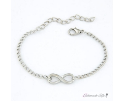 Armband Infinity silber  im Organza Beutel