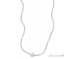Collier Silber  Anker  cai love