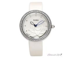 Armbanduhr damen silber  Damen Armbanduhr Herz Mechanisch Automatik Skelett mit Zirkonias Armb