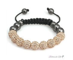 Glamour & Strass  Armband Champagner  im Organza Beutel