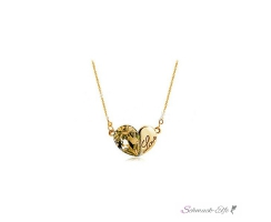 HERZ Restless Heart Swarovski Elements 18k GELBGOLD inkl....
