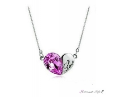 HERZ Restless Heart Swarovski Elements pink 18k WEISSGOLD...
