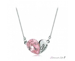 HERZ Restless Heart Swarovski Elements rosa 18k WEISSGOLD...