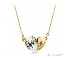 HERZ Restless Heart Swarovski Elements weiß mit 18k...