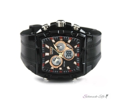 Ohsen Funktiontionsuhr LED Chrono Digital schwarz Rosegold