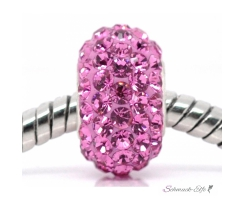 Perle  Rosa Strass 925 Silber