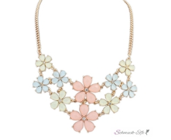 Statement Kette / Collier Flower Summer Sorbet pastell...