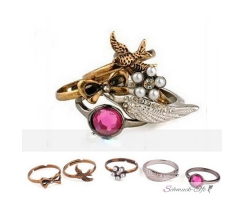 vintage  Ring Set  5 teilig