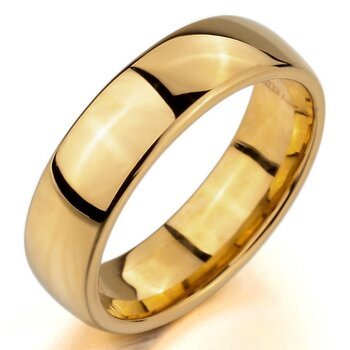 Ehering / Partner Ring Edelstahl gold mit GRAVUR OPTION...