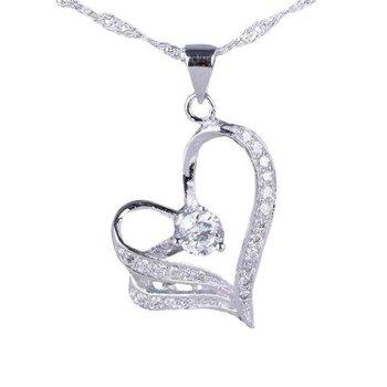 925 Silber Set Anhänger Herz Mystik Topaz passender Kette