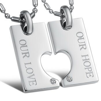 Partnerketten Our Love & Our Hope inkl. Ketten im Etui...