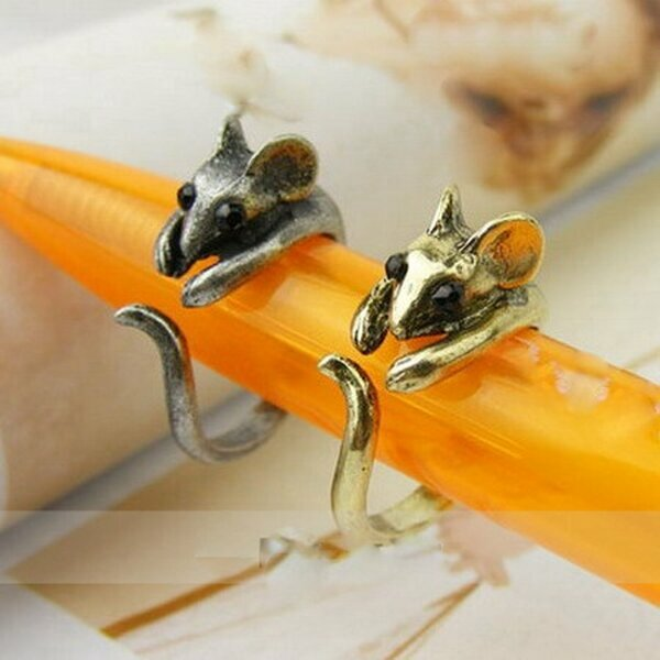 MAUS  Ring antik silber & antik gold