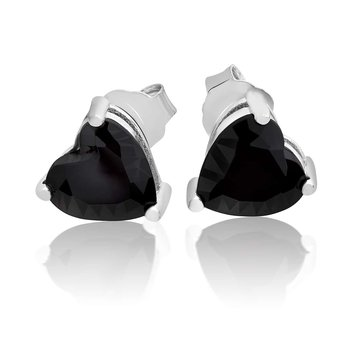 1 Pair of Ear Plugs Heart Opal 925 silver