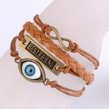 Armband Best Friend & Auge caramel braun