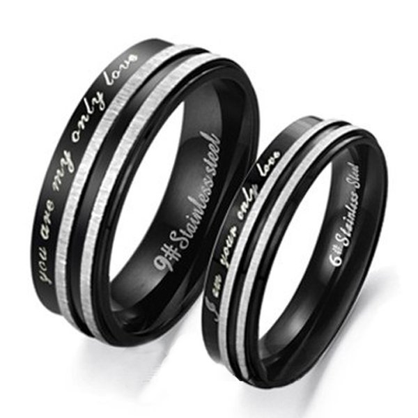 Couple Rings Unisex ONLY LOVE stainless steel