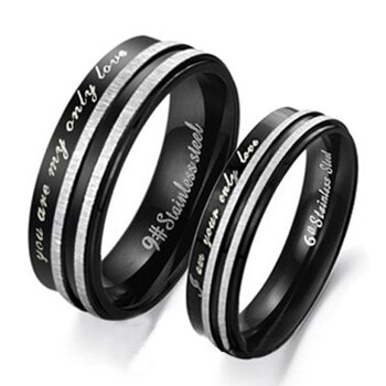 Ehering/ Partner Ring Unisex ONLY LOVE   Edelstahl...