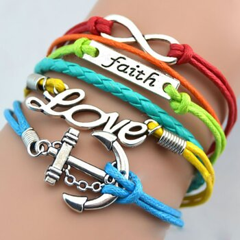 Armband Anker Love & Faith Multicolor
