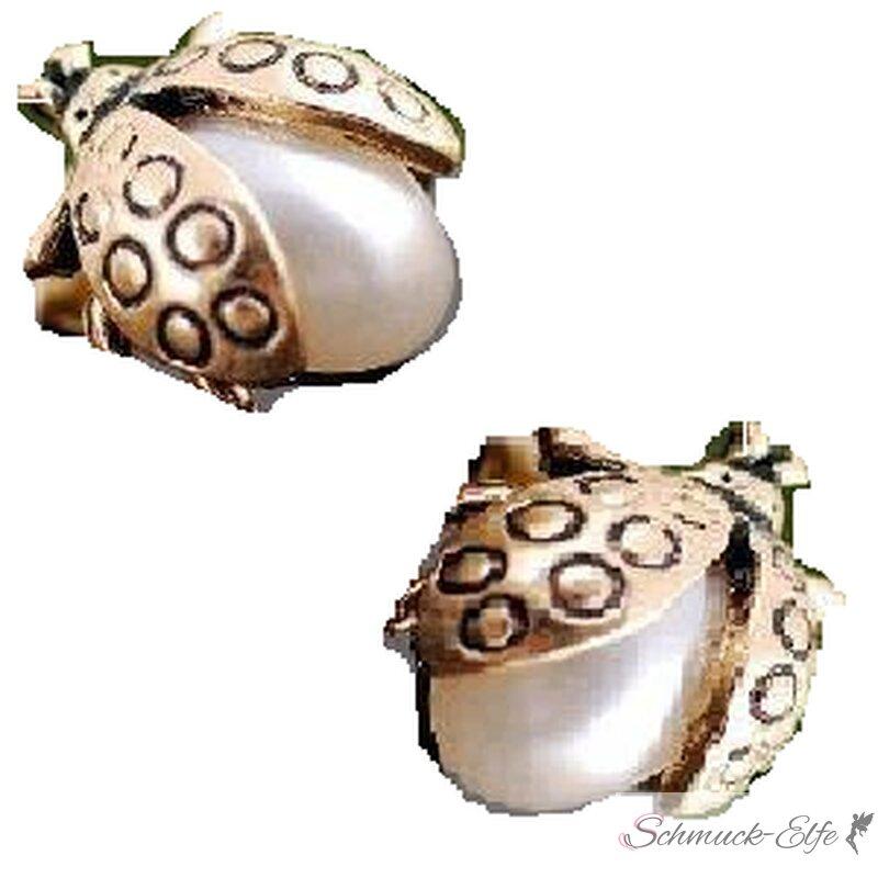 1 Paar Ohrstecker Marien Käfer mit Perle