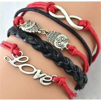 Armband Euly in Love rot schwarz