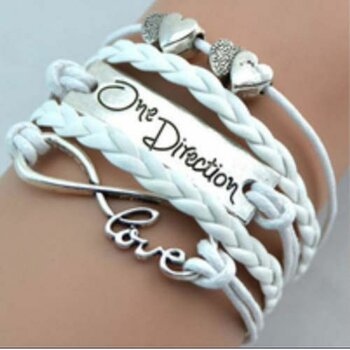 Armband Infinity One Direction weiß