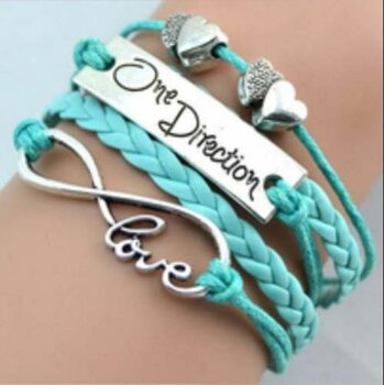 Armband Infinity One Direction türkis/ mint