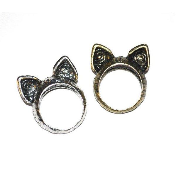 matt 8mm Katzen gebürstet NEU Ohrringe Ohrstecker 925 Silber