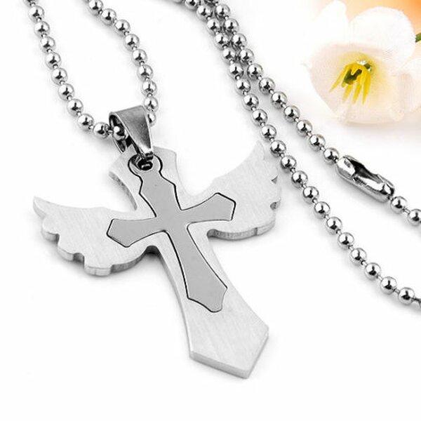 Halskette Kette mit Kreuz Edelstahl Anhänger inkl Wunschgravur Lasergravur