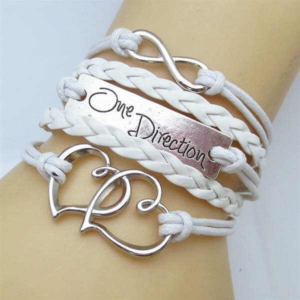 Armband Infinity One Direction LOVE weiß