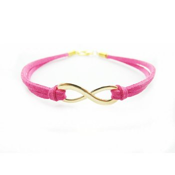 Armband Infinity Schleife gold pink