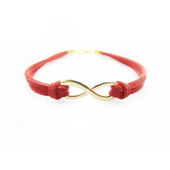 Armband Infinity Schleife gold rot