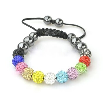 Glamour & Strass  Armband  multicolour  im Organza Beutel