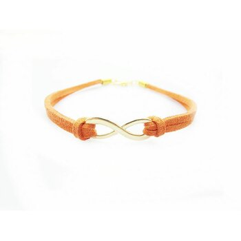 Armband Infinity Schleife orange gold