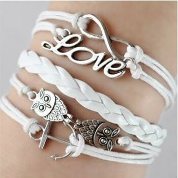Armband Euly Anker Infinty & Love weiß