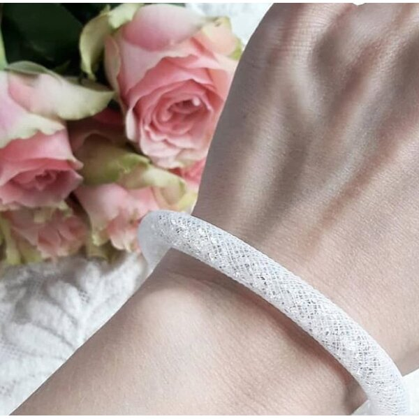 Armband Flying Diamond  White mit Magnetverschluss