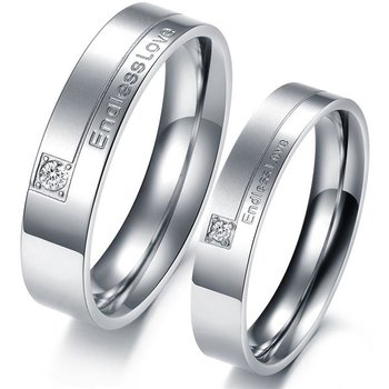 SET Eheringe / Partner Ringe 316 L Edelstahl Endless Love...